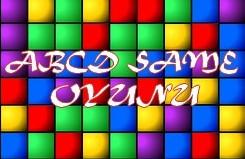 Same abcd harf oyunu rengarenk kutları eşleştirme oyunudur henüz yeni alfabe öğrenme ça...