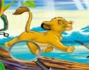 Aslan Kral Gizli Harf Bulma Oyunu oyna, Çizgi film karakteri aslan kralın resimlerindek...