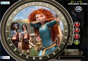 Brave animasyon çizgi filminin ünlü karakteri Prenses Merida'nın resminde sak...