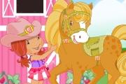 Çilek kız ile pony