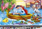 Deniz kızı ile prens sandalda romantik bir şekilde oturuyorlar tabii yalnız d...