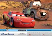 Disney cars arabaları gizli harf bulma
