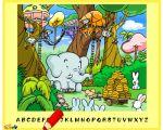 Yeni harf oyunumuz bir hayvanat bahçesinde.. Sevimli fil ve etrafındaki şirin...