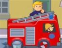 <strong>İtfaiyeci Sam Oyunu</strong>  İtfaiyeci sam itfaiye arabasıyla yang...