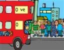 Yolcuları Otobüse Bindirme oyunu oyna, durakta bekleyen yolcuları otobüsün yo...