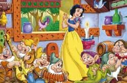 Pamuk prenses ve yedi cüceler harf bulmaca