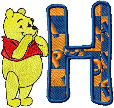 Disneyin ünlü karakteri winnie pooh ile alfabe öğrenme oyununu oynamaya hazır...