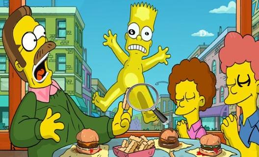 Simpsonlar gizli harf oyunu, harf bulma oyunlarında simpsonlar ailesini de ek...