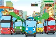 Tayo Minibüs Yarışı oyununda Tayo'nun minibüsünü sürerek varış noktasına kusu...