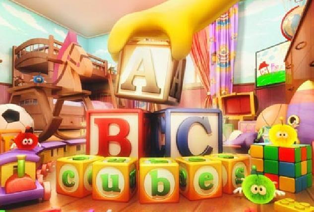 Abc küpleri patlatma alfabe harfleri